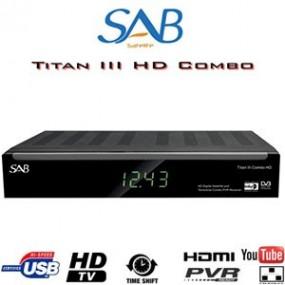 Récepteur SAB TITAN III COMBO HD - Satellite / TNT - 1 lecteur de carte - CI - 2 USB - PVR via USB + Cordon HDMI offert