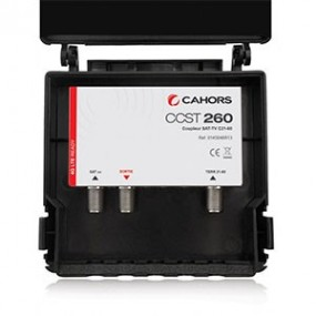 Coupleur 2 entrées TV/SAT Haute isolation - Protection 4G LTE - Cahors CCST 260