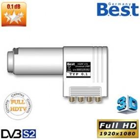 LNB Quattro Lens 0.1 dB - 40 mm - Best Germany - HDTV 3D - 3 ans de garantie