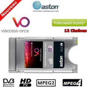 Module PCMCIA Sécurisé Viaccess Professionnel MPEG2/MPEG4 - décrypte jusqu'à 12 chaînes TV