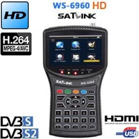 """Mesureur de Champ Satellite HD DVB-S et DVB-S2 Satlink WS 6960 - écran TFT LCD de 4.3"""" - Analyseur de constellation - HDMI"""