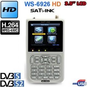 """Mesureur de Champ Satellite HD DVB-S et DVB-S2 SATLINK WS 6926 - écran TFT LCD de 3.5"""" - UNICABLE"""
